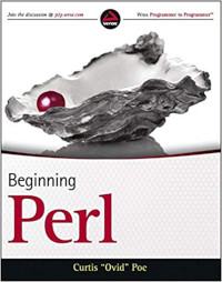 The cover of the 'Beginning Perl' book