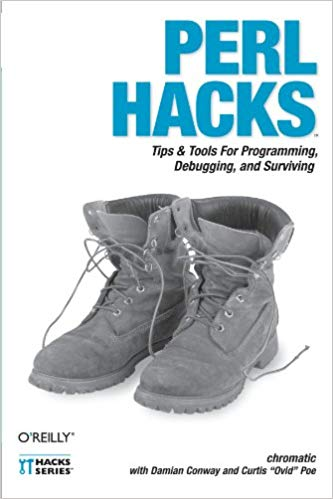 The cover of the 'Perl Hacks' book